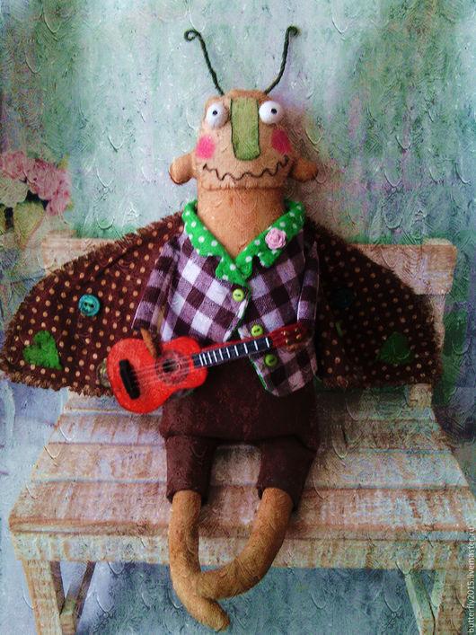 Ароматизированные куклы ручной работы. Ярмарка Мастеров - ручная работа. Купить Моль Стиляга)       (брошь шторная))   ПОВТОР. Handmade. Коричневый