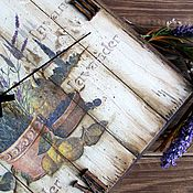 """Для дома и интерьера ручной работы. Ярмарка Мастеров - ручная работа Часы """"В лавандовом Провансе"""". Handmade."""