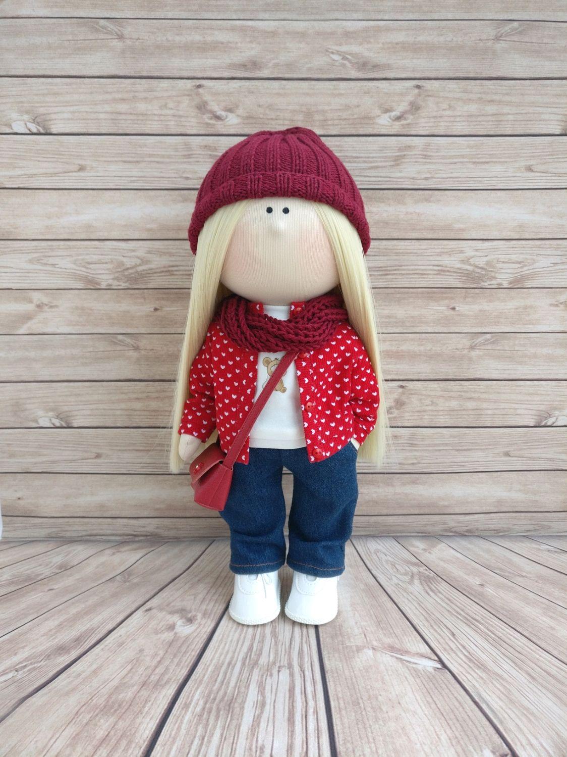 Текстильная кукла в курточке , Тыквоголовка, Москва,  Фото №1