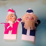 Куклы и игрушки ручной работы. Ярмарка Мастеров - ручная работа Дед Мороз и Снегурочка. Handmade.