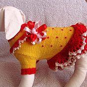 """Для домашних животных, ручной работы. Ярмарка Мастеров - ручная работа платье для собак """"Милашка"""". Handmade."""
