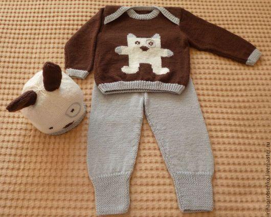 Одежда для мальчиков, ручной работы. Ярмарка Мастеров - ручная работа. Купить Детский костюм из шерсти. Handmade. Теплый комплект