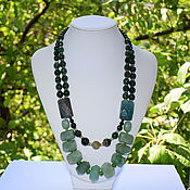Украшения handmade. Livemaster - original item Elegant necklace natural green agate. Handmade.