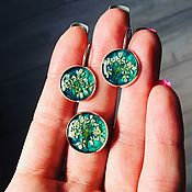 Украшения handmade. Livemaster - original item Earrings with dried flowers