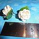 Серьги ручной работы. Заказать Серьги     с мини-розами цвета айвори. Натали. Ярмарка Мастеров. Цветы ручной работы