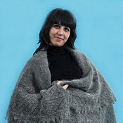 Аксессуары handmade. Livemaster - original item Shawls: 48 shawl down Orenburg shawl large size. Handmade.