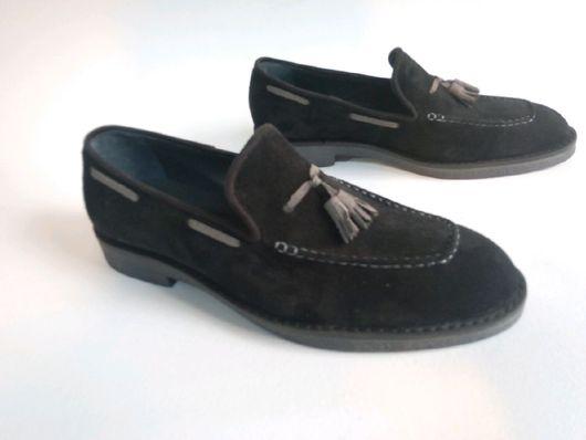 """Обувь ручной работы. Ярмарка Мастеров - ручная работа. Купить Мужской лофер""""Цельнокройный Ч"""". Handmade. Мужская обувь, натуральная кожа"""