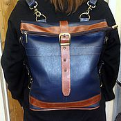 Сумки и аксессуары handmade. Livemaster - original item Backpack-leather bag 65. Handmade.