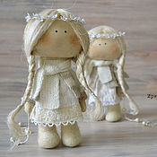 Куклы и игрушки ручной работы. Ярмарка Мастеров - ручная работа текстильная куколка АНГЕЛОЧЕК. Handmade.