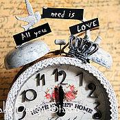 """Для дома и интерьера ручной работы. Ярмарка Мастеров - ручная работа Часы """"All you need is..."""". Handmade."""