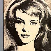 Картины и панно ручной работы. Ярмарка Мастеров - ручная работа 60th Michele. Из серии картин Черно-Белое Ретро. Handmade.