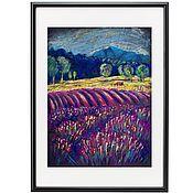Картины и панно handmade. Livemaster - original item The picture Lavender fields in Provence Pastel. Handmade.