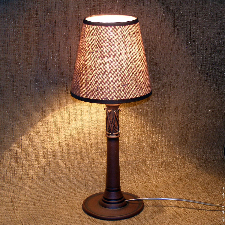 "настольная лампа, прикроватная лампа ""капитель"""