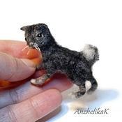 Куклы и игрушки handmade. Livemaster - original item Miniature toys: Tabby tabby cat Bobtail, Dollhouse.. Handmade.