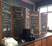 Для дома и интерьера ручной работы. Ярмарка Мастеров - ручная работа Роспись меню в кафе. Handmade.