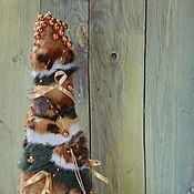 """Подарки к праздникам ручной работы. Ярмарка Мастеров - ручная работа Сувенирная ёлка из натурального меха """"Новогодняя сказка"""". Handmade."""