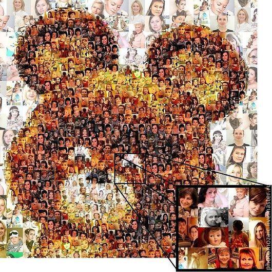 """Фотокартины ручной работы. Ярмарка Мастеров - ручная работа. Купить Фотомозаика """"Олимпийский Тедди"""". Handmade. Мастерица, мишка, подарок, ностальгия"""