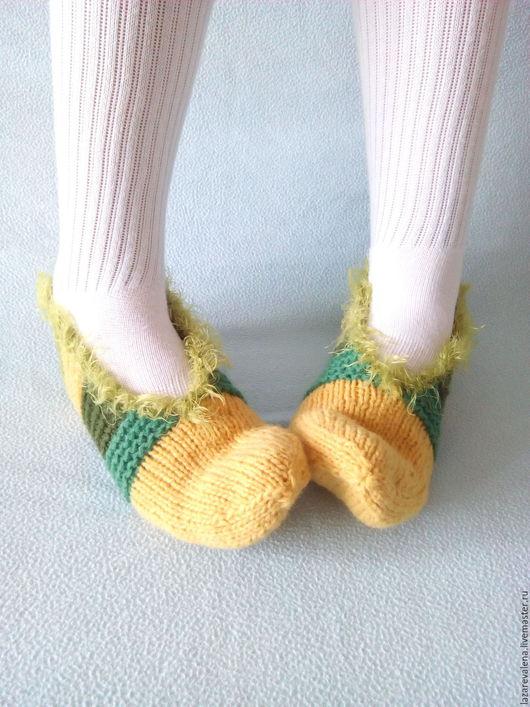 Носки, Чулки ручной работы. Ярмарка Мастеров - ручная работа. Купить Короткие носочки Лето. Handmade. Желтый, вязание спицами