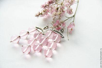 Серьги ручной работы. Ярмарка Мастеров - ручная работа Розовые серьги. Handmade.