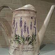 Лейки ручной работы. Ярмарка Мастеров - ручная работа Лейка для полива цветов в стиле прованс. Handmade.