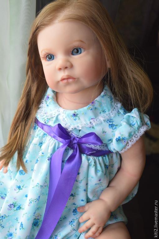 Куклы-младенцы и reborn ручной работы. Ярмарка Мастеров - ручная работа. Купить кукла Настенька. Handmade. Кремовый, Настя, винил