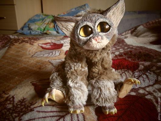Игрушки животные, ручной работы. Ярмарка Мастеров - ручная работа. Купить Вихровый кот. Handmade. Серый, поролон