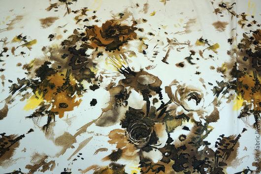 Шитье ручной работы. Ярмарка Мастеров - ручная работа. Купить Трикотаж вискозный букеты КУПОН 11081952 Италия Цена за метр. Handmade.