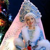 Куклы и игрушки ручной работы. Ярмарка Мастеров - ручная работа Кукла Снегурочка с снегирями. Handmade.