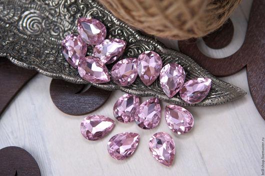 Для украшений ручной работы. Ярмарка Мастеров - ручная работа. Купить Капли 13х18 мм Pink (Розовый). Handmade.