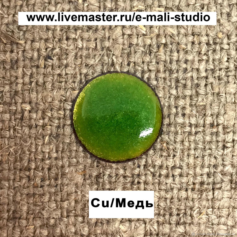 Hiller transparent green light green enamel No. №132 ground 10 gr, Blanks for jewelry, St. Petersburg,  Фото №1