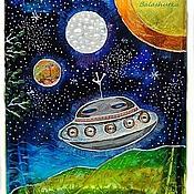 """Для дома и интерьера ручной работы. Ярмарка Мастеров - ручная работа Ваза """"Космическое путешествие"""". Handmade."""