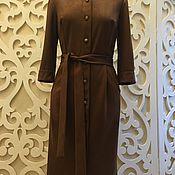 """Одежда ручной работы. Ярмарка Мастеров - ручная работа Платье из искусственной замши """" Жаклин"""". Цвет шоколадный. Handmade."""