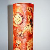 """Для дома и интерьера ручной работы. Ярмарка Мастеров - ручная работа Ваза """"Старинные часы"""". Handmade."""
