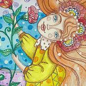 """Картины и панно ручной работы. Ярмарка Мастеров - ручная работа Картина """"Счастье внутри меня"""", радость, счастье, гармония. Handmade."""