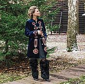 Одежда ручной работы. Ярмарка Мастеров - ручная работа Кафтан «Северное сияние». Handmade.