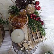 Сувениры и подарки handmade. Livemaster - original item Christmas gifts: Eco-style candlesticks. Handmade.