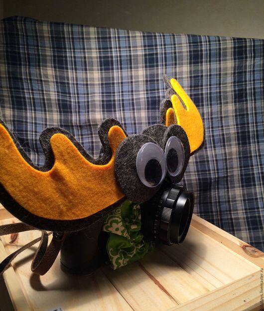 Кукольный театр ручной работы. Ярмарка Мастеров - ручная работа. Купить Игрушка на объектив. Handmade. Ярко-красный, фотоаппарат, фотограф