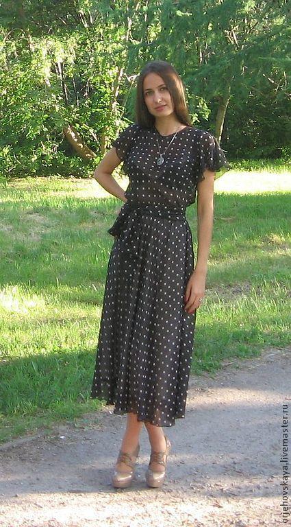 3cfe48ec96261fd Платье в горошек – купить в интернет-магазине на Ярмарке Мастеров с ...