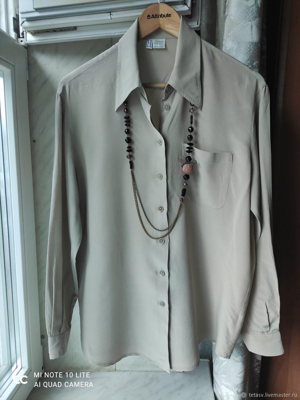 Винтаж:  Рубашка-блуза женская Германия, Одежда винтажная, Гатчина,  Фото №1