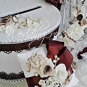 """Свадебный салон ручной работы. Ярмарка Мастеров - ручная работа Свадебный набор""""Шоколадное наслаждение"""". Handmade."""