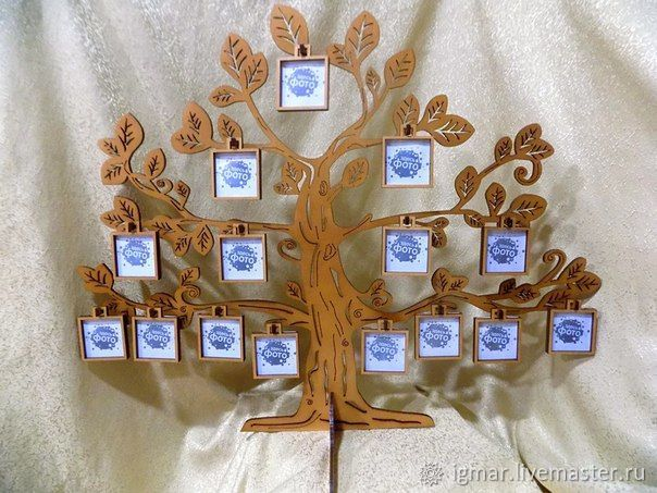 Семейное дерево резное, Фоторамки, Уфа,  Фото №1