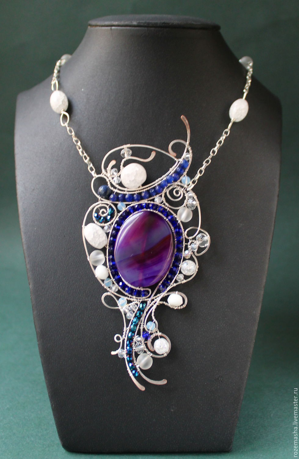 Absolutely Magnificent pendant (variant with purple agate), Necklace, St. Petersburg,  Фото №1
