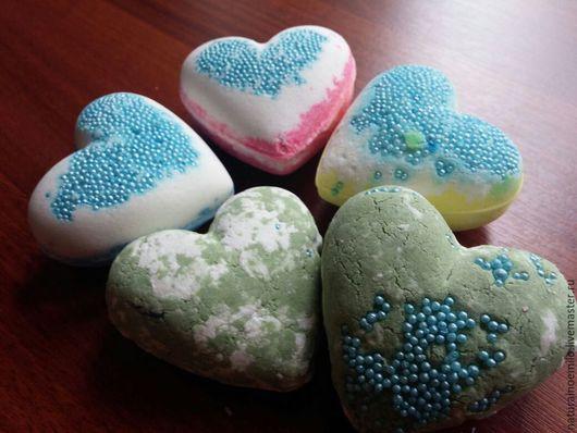 """Бомбы для ванны ручной работы. Ярмарка Мастеров - ручная работа. Купить Бомбочки """"Сердце"""". Handmade. Разноцветный, сода пищевая"""