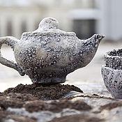 Посуда ручной работы. Ярмарка Мастеров - ручная работа Сервиз РАКУ Лёд. Handmade.