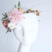 Свадебный салон ручной работы. Ярмарка Мастеров - ручная работа Венок на голову для невесты. Свадьба осенью.Цветы из шелка.. Handmade.