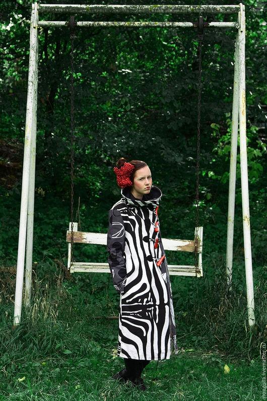 Верхняя одежда ручной работы. Ярмарка Мастеров - ручная работа. Купить Арт-пальто Zebra S/M. Handmade. Летнее пальто