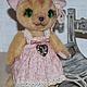 Мишки Тедди ручной работы. Кошечка Николь. Irene Gromi (Teddy Art Boutique). Ярмарка Мастеров. Теддик, рыжая кошка