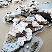 Картины и панно handmade. Livemaster - original item MULTI-LEVEL WORLD MAP