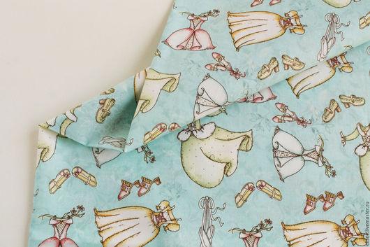 """Шитье ручной работы. Ярмарка Мастеров - ручная работа. Купить ткань """"Для принцесс"""". Handmade. Ткани, принцесса, феи"""