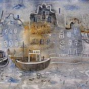 Картины и панно ручной работы. Ярмарка Мастеров - ручная работа Туман в городе. Handmade.